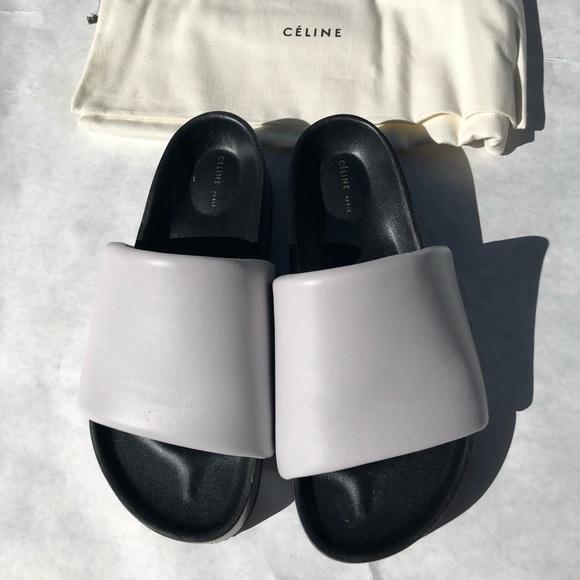 Celine by Phoebe Philo leather slides